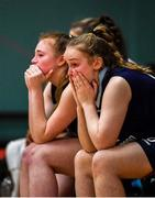 12 January 2020; DCU Mercy players, including Rachel Kirby, dejected following the Hula Hoops U18 Women's National Cup Semi-Final between Waterford Wildcats and DCU Mercy at Parochial Hall in Cork. Photo by Sam Barnes/Sportsfile