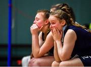 12 January 2020; DCU Mercy players, including Rachel Kirby, right, dejected following the Hula Hoops U18 Women's National Cup Semi-Final between Waterford Wildcats and DCU Mercy at Parochial Hall in Cork. Photo by Sam Barnes/Sportsfile