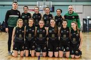 12 January 2020; The Portlaoise Panthers team ahead of the Hula Hoops U18 Women's National Cup Semi-Final between Portlaoise Panthers and Singleton Supervalu Brunell at Parochial Hall in Cork. Photo by Sam Barnes/Sportsfile