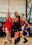12 January 2020; Gillian Wheeler of Portlaoise Panthers in action against Mia Finnegan of Singleton Supervalu Brunell during the Hula Hoops U18 Women's National Cup Semi-Final between Portlaoise Panthers and Singleton Supervalu Brunell at Parochial Hall in Cork. Photo by Sam Barnes/Sportsfile