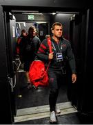 12 January 2020; CJ Stander of Munster arrives prior to the Heineken Champions Cup Pool 4 Round 5 match between Racing 92 and Munster at Paris La Defence Arena, in Paris, France. Photo by Seb Daly/Sportsfile