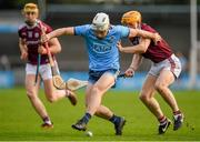12 January 2020; Cian O'Callaghan of Dublin in action against David Glennon of Galway during the Walsh Cup Semi-Final match between Dublin and Galway at Parnell Park in Dublin. Photo by Harry Murphy/Sportsfile
