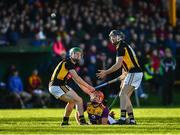 12 January 2020; Gavin Bailey of Wexford in action against Paul Holden, left, and Pat O'Carroll of Kilkenny during the Walsh Cup Semi-Final match between Kilkenny and Wexford at John Lockes GAA Club, John Locke Park in Callan, Kilkenny. Photo by Ray McManus/Sportsfile