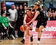 11 January 2020; Anna Morrissey of Singleton Supervalu Brunell in action against Ciara Byrne of Portlaoise Panthers during the Hula Hoops Women's Division One National Cup Semi-Final match between Team Tom McCarthy's St Mary's and Portlaoise Panthers at Parochial Hall in Cork. Photo by Sam Barnes/Sportsfile