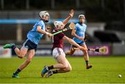 12 January 2020; Cathal Mannion of Galway in action against Alex O'Neill of Dublin during the Walsh Cup Semi-Final match between Dublin and Galway at Parnell Park in Dublin. Photo by Harry Murphy/Sportsfile