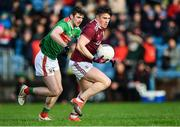 12 January 2020; Shane Walsh of Galway in action against Brendan Harrison of Mayo during the FBD League Semi-Final match between Mayo and Galway at Elverys MacHale Park in Castlebar, Mayo. Photo by Piaras Ó Mídheach/Sportsfile