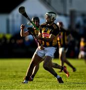12 January 2020; Paddy Deegan of Kilkenny in action against Micheál Dwyer of Wexford during the Walsh Cup Semi-Final match between Kilkenny and Wexford at John Lockes GAA Club, John Locke Park in Callan, Kilkenny. Photo by Ray McManus/Sportsfile