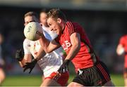 12 January 2020; Barry O'Hagan of Down in action against Ben O'Donnell of Tyrone during the Bank of Ireland Dr McKenna Cup Semi-Final match between Tyrone and Down at the Athletic Grounds in Armagh. Photo by Oliver McVeigh/Sportsfile