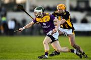 12 January 2020; Aidan Rochford of Wexford in action against Billy Ryan of Kilkenny during the Walsh Cup Semi-Final match between Kilkenny and Wexford at John Lockes GAA Club, John Locke Park in Callan, Kilkenny. Photo by Ray McManus/Sportsfile