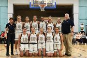 12 January 2020; The Ulster University team ahead of the Hula Hoops Women's Division One National Cup Semi-Final between Ulster University and Trinity Meteors at Parochial Hall in Cork. Photo by Sam Barnes/Sportsfile