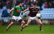 12 January 2020; John Daly of Galway in action against Kevin McLoughlin of Mayo during the FBD League Semi-Final match between Mayo and Galway at Elverys MacHale Park in Castlebar, Mayo. Photo by Piaras Ó Mídheach/Sportsfile