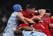 12 January 2020; Jack O'Donoghue of Munster and Wenceslas Lauret of Racing 92 during the Heineken Champions Cup Pool 4 Round 5 match between Racing 92 and Munster at Paris La Defence Arena in Paris, France. Photo by Seb Daly/Sportsfile