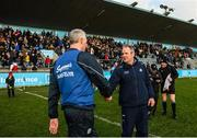 12 January 2020; Dublin manager Mattie Kenny and Galway manager Shane O'Neill shake hands following the Walsh Cup Semi-Final match between Dublin and Galway at Parnell Park in Dublin. Photo by Harry Murphy/Sportsfile