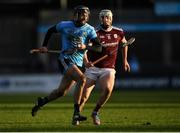 12 January 2020; Marc Howard of Dublin in action against Cathal Mannion of Galway during the Walsh Cup Semi-Final match between Dublin and Galway at Parnell Park in Dublin. Photo by Harry Murphy/Sportsfile