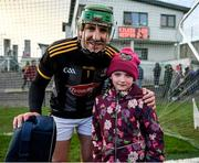 12 January 2020; Kilkenny goalkeeper Eoin Murphy with eight year old Megan Kelly, from Paulstown, after the Walsh Cup Semi-Final match between Kilkenny and Wexford at John Lockes GAA Club, John Locke Park in Callan, Kilkenny. Photo by Ray McManus/Sportsfile