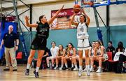 12 January 2020; Erin Maguire of Ulster University in action against Niamh Kenny of Trinity Meteors during the Hula Hoops Women's Division One National Cup Semi-Final between Ulster University and Trinity Meteors at Parochial Hall in Cork. Photo by Sam Barnes/Sportsfile