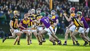 12 January 2020; Shaun Murphy, 17, of Wexford wins possession of the sliothar during the Walsh Cup Semi-Final match between Kilkenny and Wexford at John Lockes GAA Club, John Locke Park in Callan, Kilkenny. Photo by Ray McManus/Sportsfile