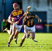 12 January 2020; Aidan Nolan of Kilkenny in action against Paudie Foley of Wexford during the Walsh Cup Semi-Final match between Kilkenny and Wexford at John Lockes GAA Club, John Locke Park in Callan, Kilkenny. Photo by Ray McManus/Sportsfile