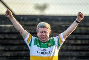 12 January 2020; Legendary Offaly supporter Mick McDonagh, from Tullamore, during the Kehoe Cup Final match between Antrim and Offaly at Páirc Tailteann in Navan, Meath. Photo by Philip Fitzpatrick/Sportsfile
