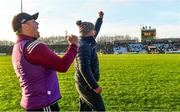 12 January 2020; Galway manager Pádraic Joyce, right, and his selector John Concannon celebrate a point scored by Liam Costello that levelled the game and sent it to penalties during the FBD League Semi-Final match between Mayo and Galway at Elverys MacHale Park in Castlebar, Mayo. Photo by Piaras Ó Mídheach/Sportsfile