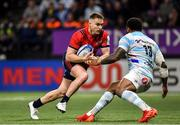 12 January 2020; Rory Scannell of Munster in action against Virimi Vakatawa Racing 92 during the Heineken Champions Cup Pool 4 Round 5 match between Racing 92 and Munster at Paris La Defence Arena in Paris, France. Photo by Seb Daly/Sportsfile