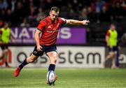 12 January 2020; JJ Hanrahan of Munster kicks a penalty during the Heineken Champions Cup Pool 4 Round 5 match between Racing 92 and Munster at Paris La Defence Arena in Paris, France. Photo by Seb Daly/Sportsfile
