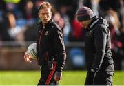 12 January 2020; Mayo manager James Horan, right, with selector Ciarán McDonald before the FBD League Semi-Final match between Mayo and Galway at Elverys MacHale Park in Castlebar, Mayo. Photo by Piaras Ó Mídheach/Sportsfile