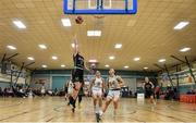 12 January 2020; Edel Thornton of Trinity Meteors goes for a lay up during the Hula Hoops Women's Division One National Cup Semi-Final between Ulster University and Trinity Meteors at Parochial Hall in Cork. Photo by Sam Barnes/Sportsfile