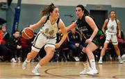 12 January 2020; Alex Mulligan of Ulster University in action against Jade Daly of Trinity Meteors during the Hula Hoops Women's Division One National Cup Semi-Final between Ulster University and Trinity Meteors at Parochial Hall in Cork. Photo by Sam Barnes/Sportsfile