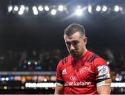 12 January 2020; JJ Hanrahan of Munster following his side's defeat during the Heineken Champions Cup Pool 4 Round 5 match between Racing 92 and Munster at Paris La Defence Arena in Paris, France. Photo by Seb Daly/Sportsfile