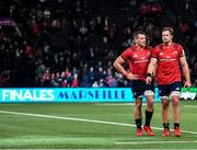 12 January 2020; CJ Stander, left, and Arno Botha of Munster following their side's defeat during the Heineken Champions Cup Pool 4 Round 5 match between Racing 92 and Munster at Paris La Defence Arena in Paris, France. Photo by Seb Daly/Sportsfile