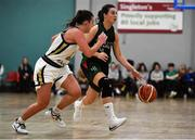12 January 2020; Jade Daly of Trinity Meteors in action against Lexi Posset of Ulster University during the Hula Hoops Women's Division One National Cup Semi-Final between Ulster University and Trinity Meteors at Parochial Hall in Cork. Photo by Sam Barnes/Sportsfile