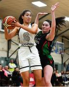 12 January 2020; Seana Harley-Moyles of Ulster University in action against Sarah Kenny of Trinity Meteors during the Hula Hoops Women's Division One National Cup Semi-Final between Ulster University and Trinity Meteors at Parochial Hall in Cork. Photo by Sam Barnes/Sportsfile