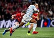 12 January 2020; Virimi Vakatawa of Racing 92 in action against Chris Farrell of Munster during the Heineken Champions Cup Pool 4 Round 5 match between Racing 92 and Munster at Paris La Defence Arena in Paris, France. Photo by Seb Daly/Sportsfile