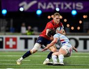 12 January 2020; Mike Haley of Munster in action against Henry Chavancy of Racing 92 during the Heineken Champions Cup Pool 4 Round 5 match between Racing 92 and Munster at Paris La Defence Arena in Paris, France. Photo by Seb Daly/Sportsfile