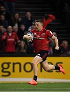 12 January 2020; Andrew Conway of Munster on his way to scoring his side's first try during the Heineken Champions Cup Pool 4 Round 5 match between Racing 92 and Munster at Paris La Defence Arena in Paris, France. Photo by Seb Daly/Sportsfile