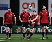 12 January 2020; JJ Hanrahan of Munster kicks the ball into touch Champions Cup Pool 4 Round 5 match between Racing 92 and Munster at Paris La Defence Arena in Paris, France. Photo by Seb Daly/Sportsfile