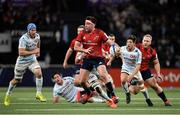 12 January 2020; Niall Scannell of Munster makes a break during the Heineken Champions Cup Pool 4 Round 5 match between Racing 92 and Munster at Paris La Defence Arena in Paris, France. Photo by Seb Daly/Sportsfile