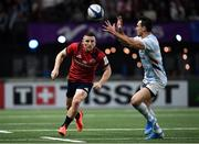 12 January 2020; Andrew Conway of Munster in action against Juan Imhoff of Racing 92 during the Heineken Champions Cup Pool 4 Round 5 match between Racing 92 and Munster at Paris La Defence Arena in Paris, France. Photo by Seb Daly/Sportsfile