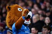 12 January 2020; Leo the Lion during the Heineken Champions Cup Pool 1 Round 5 match between Leinster and Lyon at the RDS Arena in Dublin. Photo by David Fitzgerald/Sportsfile
