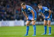 12 January 2020; Garry Ringrose, left, and Jordan Larmour of Leinster during the Heineken Champions Cup Pool 1 Round 5 match between Leinster and Lyon at the RDS Arena in Dublin. Photo by Ramsey Cardy/Sportsfile