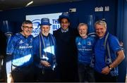 12 January 2020; Leinster supporters meet Joe Tomane, Ed Byrne and Adam Byrne in the Blue Room at the Heineken Champions Cup Pool 1 Round 5 match between Leinster and Lyon at the RDS Arena in Dublin. Photo by David Fitzgerald/Sportsfile