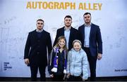 12 January 2020; Leinster supporters meet Ronan Kelleher, Will Connors and James Ryan in autograph alley at the Heineken Champions Cup Pool 1 Round 5 match between Leinster and Lyon at the RDS Arena in Dublin. Photo by David Fitzgerald/Sportsfile
