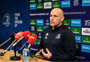 14 January 2020; Backs coach Felipe Contepomi during a Leinster Rugby press conference at Leinster Rugby Headquarters in UCD, Dublin. Photo by Harry Murphy/Sportsfile