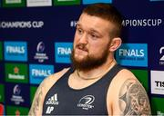 14 January 2020; Andrew Porter during a Leinster Rugby press conference at Leinster Rugby Headquarters in UCD, Dublin. Photo by Harry Murphy/Sportsfile