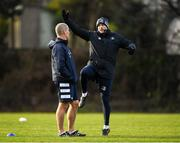 14 January 2020; Backs coach Felipe Contepomi and Senior coach Stuart Lancaster during a Leinster Rugby squad training session at Leinster Rugby Headquarters in UCD, Dublin. Photo by Harry Murphy/Sportsfile