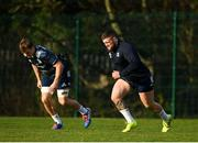 14 January 2020; Andrew Porter, right, and Josh van der Flier during a Leinster Rugby squad training session at Leinster Rugby Headquarters in UCD, Dublin. Photo by Harry Murphy/Sportsfile