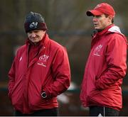 14 January 2020; Munster senior coach Stephen Larkham, right, with forwards coach Graham Rowntree during a Munster Rugby training session at University of Limerick in Limerick. Photo by Matt Browne/Sportsfile