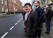 14 January 2020; UEFA General Secretary Theodore Theodoridis leaves Leinster House following the UEFA meeting with the Department of Transport, Tourism and Sport at Leinster House in Dublin. Photo by Sam Barnes/Sportsfile