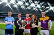 15 January 2020; (EDITOR'S NOTE: This image was created using a starburst filter) eir sport has today announced the details of its 2020 Allianz Leagues coverage. On hand for the launch were Cork's Alan Cadogan, Wexford's Rory O'Connor, Dublin's Paul Mannion and Kerry's Paul Geaney. Over seven weekends eir sport will broadcast 15 football and hurling games and become the home of Saturday night live GAA. The coverage kicks off on Saturday 25th January, with a massive triple header across its channels, including the All-Ireland football & hurling champions. Pictured at the launch are, from left, Paul Mannion of Dublin, Peter McKenna, Croke Park Stadium Director and Commercial Director of the GAA, Alan Cadogan of Cork, Susan Brady, Managing Director of eir Sport, and Rory O'Connor of Wexford. Photo by Brendan Moran/Sportsfile